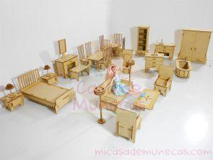 Muebles para munecas Barbie